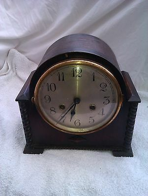 A Lovely Old Chiming Mantle Clock In Full Working Order