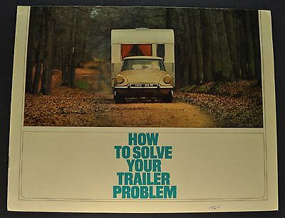 1964 Citroen DS 19 ID 19 Towing Catalog Sales Brochure Nice Original 64
