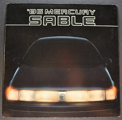 1986 Mercury Sable Sales Brochure Folder Excellent Original 86