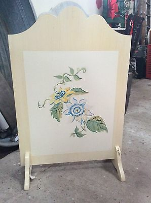 Vintage Wooden Fire Screen. Shabby Chic Project. Window Screen. Fireplace Cover