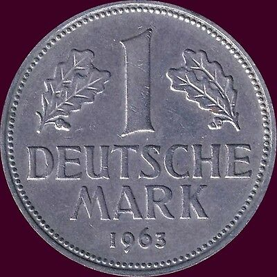 "1963 ""G"" Germany 1 Mark Coin"