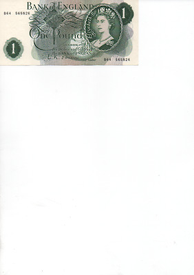 Bank of England One Pound Note O'Brien B64 565826