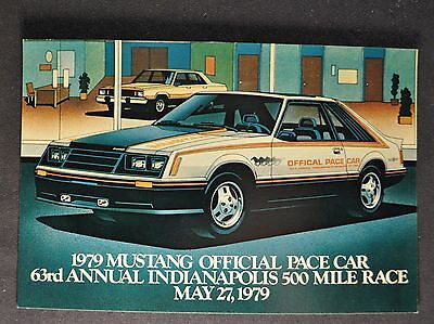 1979 Ford Mustang Pace Car Postcard Sales Brochure Excellent Original 79