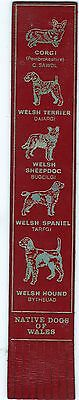 Leather Bookmark - Native Dogs Of Wales.