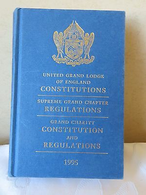 Masonic United Grand Lodge Of England Regs,cons 1995 Book Collectors