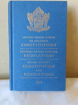 Masonic United Grand Lodge Of England Regs,cons 1989 Book Collectors