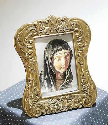 Art Nouveau Style Easel Back Solid Brass Picture Frame