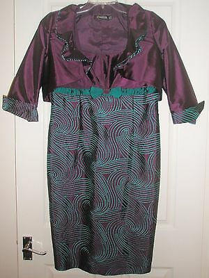 Carina Mother Of The Bride Dress And Jacket Size 12 (116)