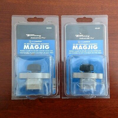 2 Forney Magswitch MAGJIG 20 MagJig 30mm Magswitch switchable magnet.