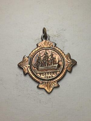 Vintage bronze victory 1905 B.F.S.S Nelson centenary medal R4906