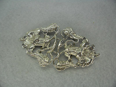 Art Nouveau Style Hand Crafted Solid Silver Nurses Belt Buckle