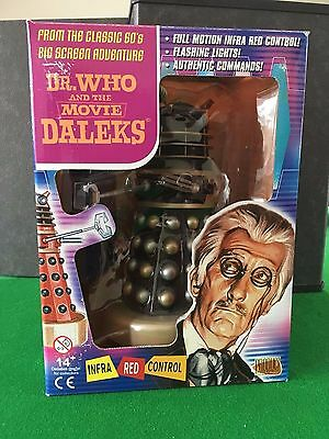 Remote Controlled DR.WHO and the DALEKS Movie BLACK + GOLD Dalek Mint/Boxed