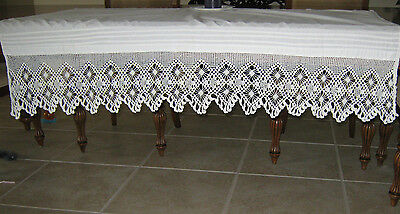 Victorian Hand Crocheted Lace*piano Shawl/mantle Or Buffet Cover*all Hand Made