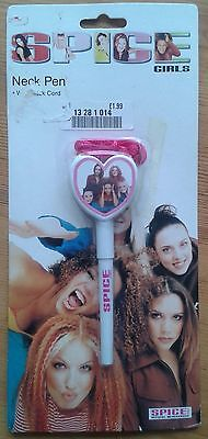 Spice Girls Neck Pen in original (damaged) packaging official merchandise
