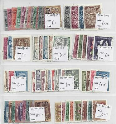HUNGARY   USED SETS  FROM THE 1950s  Catalogue Value  £327   5 SCANS
