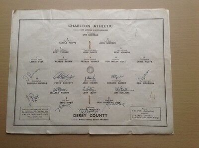 Derby County signed 1946 FA Cup final programme