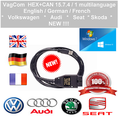 Vag-Com v 15.7.4 / 1 ✔ HEX+CAN diagnostic cable with soft on CD ✔ Multilanguage