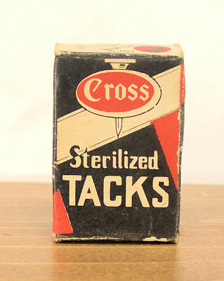 Vintage Box (Partial?) Of Cross Sterilized Tacks