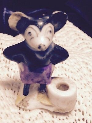 Old Porcelain Figure Of Micky Mouse