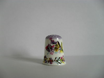 Hand Painted Bone China Thimble - Flowers
