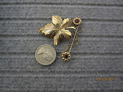 Vintage 9ct gold brooches