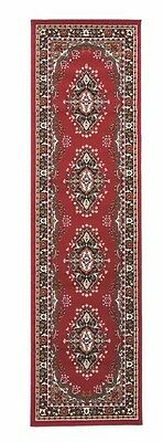 Classic Oriental Traditional Hall Runner Rug Red 60 x 220 cm (2'x7'4'') Carpet