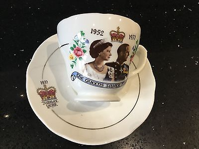 The Queen's Silver Jubilee Tea Cup and Saucer