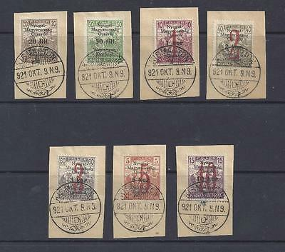 Hungary 1921  Lajtabansag  Overprints/surcharges On Harvesters Used On Pieces