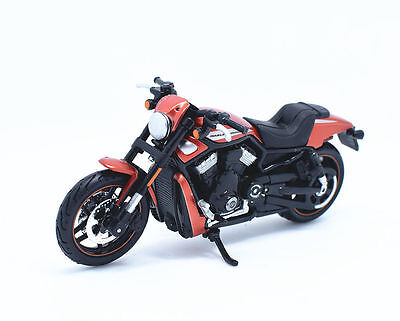 Maisto 1:18 Harley Davidson 2012 VRSCDX Night Rod Bike Motorcycle Model Orange