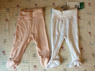 """Baby Girl Leggings / Trousers With Feet Age 1-2 Months H&M **New With Tag"""""""
