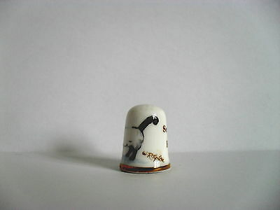 Bone China Thimble An Illustration Of A Seal Point Birman Cat With A Signature