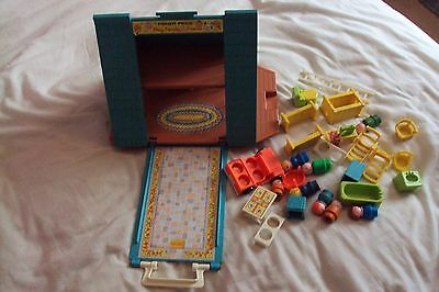 fisher price a frame playhouse with loads of extra accessories vintage retro toy