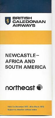 Airline timetable- BCAL and Northeast Winter 1971-1972 Destination timetable