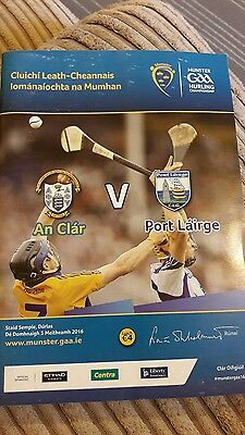 Gaa programme. clare v waterford 2016