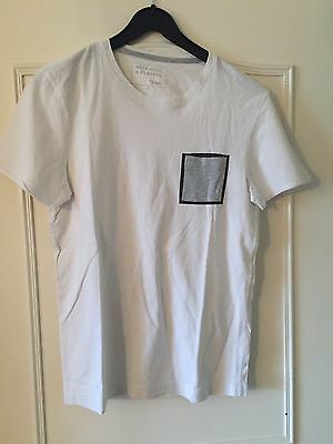 T Shirt Jules taille S blanc poche grise