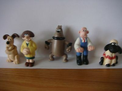 wallace and gromit set of 5 small figures