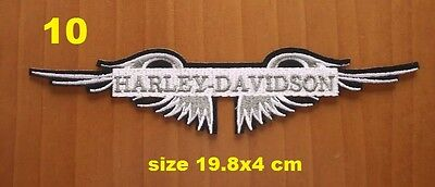 parche motero biker patches harley davidson wings