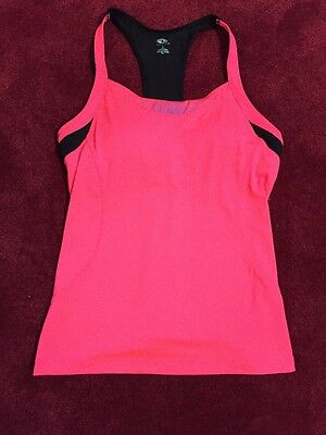 Pink And Black Size L Ladies Sports Top