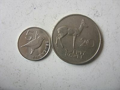 5  and 20 NGWEE 1972/2013 ZAMBIA INTERESTING
