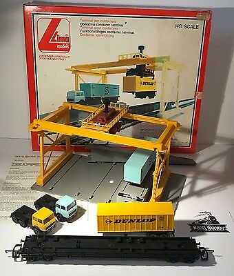 Lima - Ho Scale - 600960 - Vintage Italian Container Terminal Kit - Used Boxed