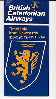Airline Timetable-BCAL British Caledonian-Newcastle issue Winter 1978-79