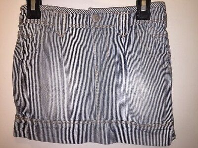 NWT Arizona Jeans Toddler Girls Denim Jean Stripe Skirt Size 5t