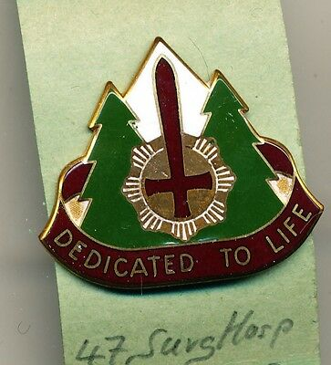 Unit Crest US Army 47th Surgical Hospital, clutchback, D22