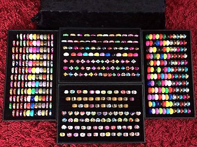 ��Large Job Lot BN Girls/Ladies Rings Plus Wooden Ring Trays -all Sizes��