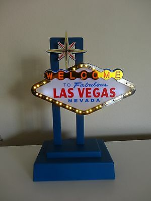Welcome to Las Vegas Sign lights up and flashed with box