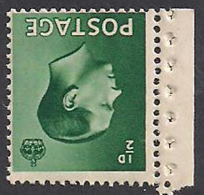 SUPERB Edward VII SG457a 1/2d Green Inverted watermark UNMOUNTED mint