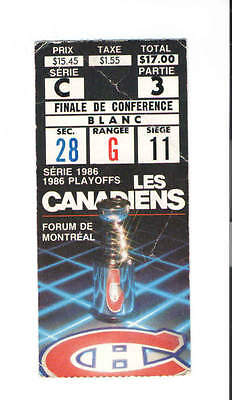 1986 MONTREAL CANADIENS vs RANGERS STANLEY CUP gm 5 NHL HOCKEY PLAYOFF TICKET