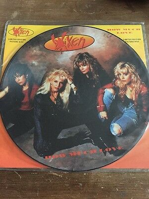 "VIXEN ~ How Much Love ~ 12"" Single PICTURE DISC"