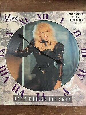 """VIXEN ~ Not A Minute Too Soon ~ 12"""" Single PICTURE DISC"""