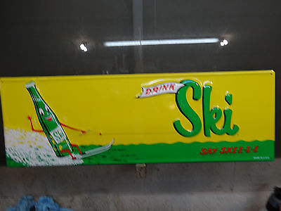 Nice Drink Ski Soda Sign Embossed